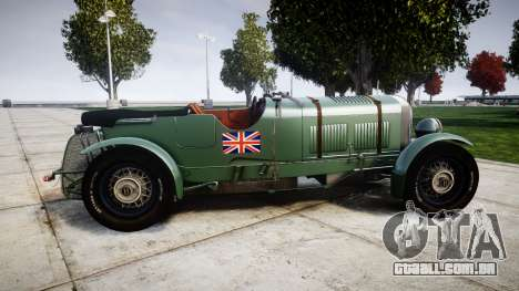 Bentley Blower 4.5 Litre Supercharged [low] para GTA 4 esquerda vista