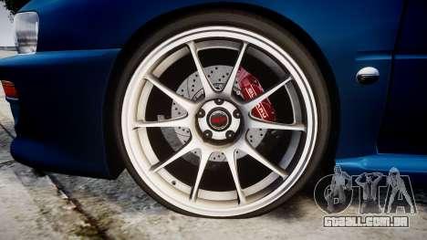 Subaru Impreza 22B Street para GTA 4 vista de volta