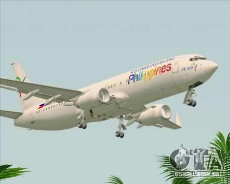 Boeing 737-800 South East Asian Airlines (SEAIR) para GTA San Andreas vista direita