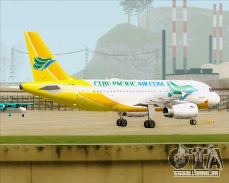 Airbus A319-100 Cebu Pacific Air para GTA San Andreas vista interior