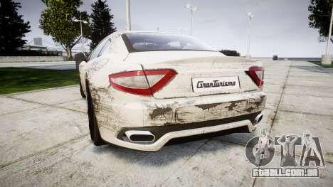 Maserati GranTurismo S 2010 PJ 4 para GTA 4 traseira esquerda vista