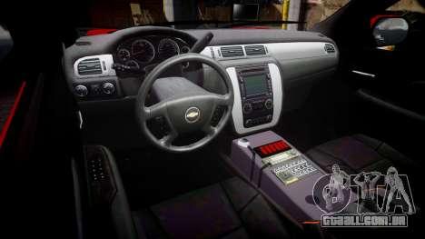 Chevrolet Tahoe Fire Chief [ELS] para GTA 4 vista de volta