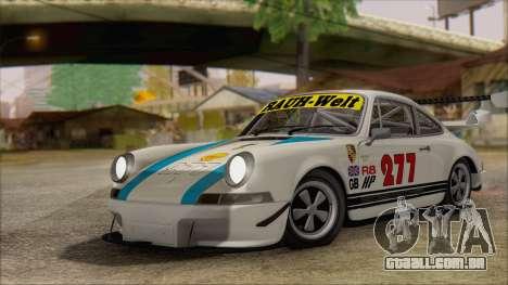Porsche 911 Carrera 1973 Tunable KIT C para GTA San Andreas vista interior