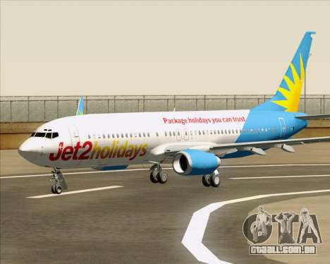 Boeing 737-800 Jet2Holidays para as rodas de GTA San Andreas
