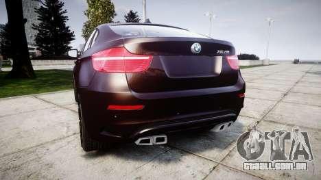 BMW X6M rims2 para GTA 4 traseira esquerda vista