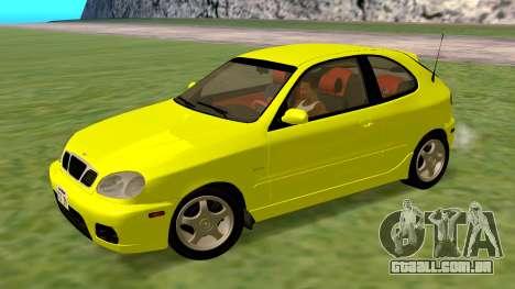 Daewoo Lanos Esporte EUA 2001 para GTA San Andreas