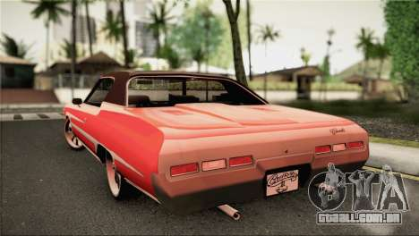Chevrolet Impala Lowrider para GTA San Andreas esquerda vista