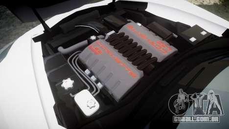 Chevrolet Corvette Z06 2015 TireCon para GTA 4 vista lateral