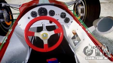 Lotus 49 1967 red para GTA 4 vista de volta
