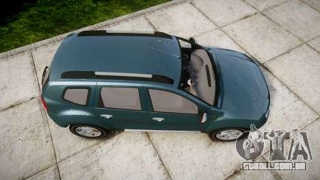 Dacia Duster 2013 para GTA 4 vista direita