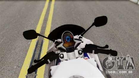 Honda CBR150FI para GTA San Andreas traseira esquerda vista
