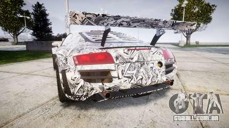 Audi R8 LMS Sharpie para GTA 4 traseira esquerda vista