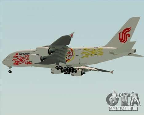 Airbus A380-800 Air China para vista lateral GTA San Andreas