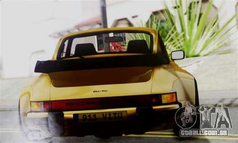 Porche 911 Turbo 1982 para GTA San Andreas traseira esquerda vista