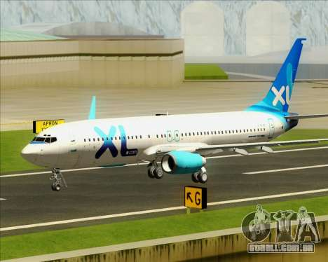 Boeing 737-800 XL Airways para GTA San Andreas vista superior