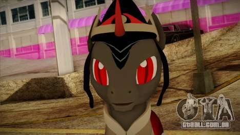 King Sombra from My Little Pony para GTA San Andreas terceira tela