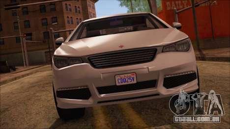 GTA 5 Ubermacht Sport para GTA San Andreas traseira esquerda vista