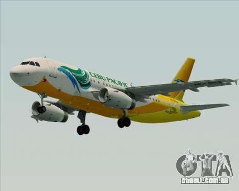 Airbus A319-100 Cebu Pacific Air para GTA San Andreas vista direita