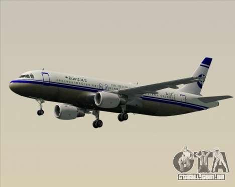 Airbus A320-200 CNAC-Zhejiang Airlines para GTA San Andreas vista inferior