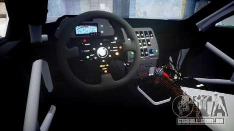 BMW M3 E46 GTR Most Wanted plate NFS Carbon para GTA 4 vista interior