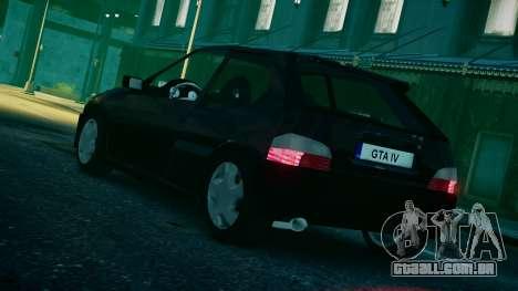 Citroen Saxo para GTA 4 esquerda vista