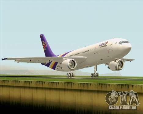 Airbus A300-600 Thai Airways International para GTA San Andreas vista traseira