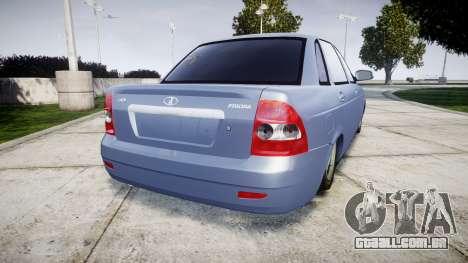 ВАЗ-2170 Instalado Prioresa Qualidade v2.0 para GTA 4 traseira esquerda vista