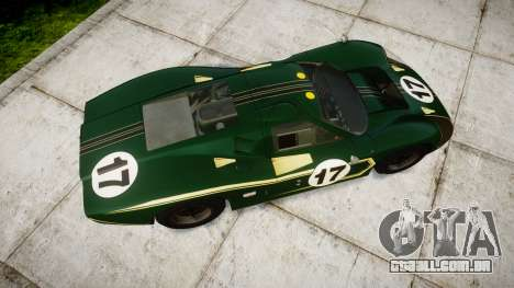 Ford GT40 Mark IV 1967 PJ 17 para GTA 4 vista direita
