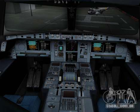 Airbus A380-800 Air China para GTA San Andreas interior