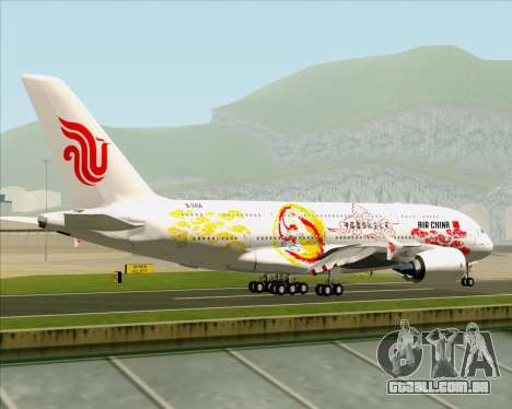 Airbus A380-800 Air China para GTA San Andreas vista direita