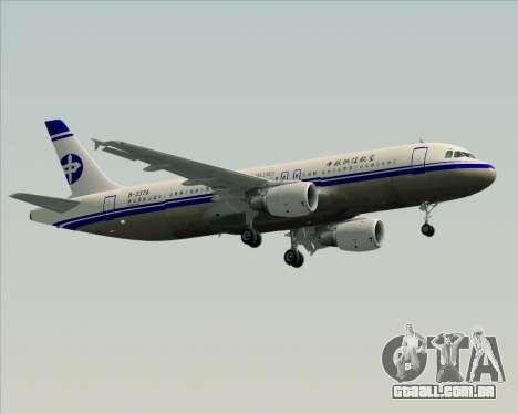 Airbus A320-200 CNAC-Zhejiang Airlines para GTA San Andreas vista interior