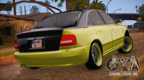 Audi S4 Fatlace para GTA San Andreas esquerda vista