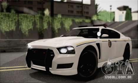Bravado Buffalo S Police Edition (IVF) para GTA San Andreas vista interior