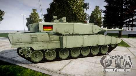 Leopard 2A7 DE Green para GTA 4 esquerda vista