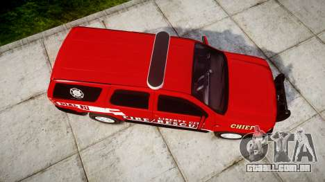 Chevrolet Tahoe Fire Chief [ELS] para GTA 4 vista direita