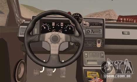 Renault 5 para GTA San Andreas traseira esquerda vista
