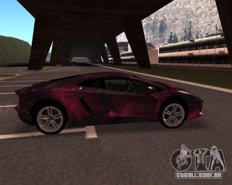 Lamborghini Aventador para GTA San Andreas traseira esquerda vista