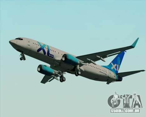 Boeing 737-800 XL Airways para GTA San Andreas vista interior