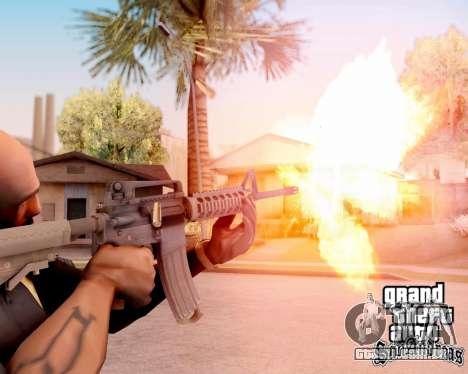 M4A1 BF4 para GTA San Andreas quinto tela