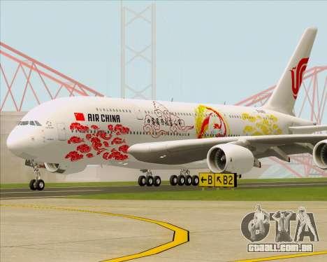 Airbus A380-800 Air China para GTA San Andreas esquerda vista