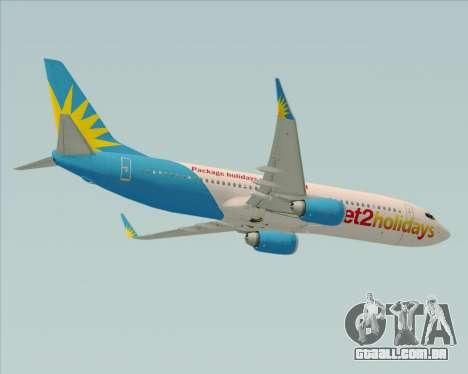 Boeing 737-800 Jet2Holidays para GTA San Andreas vista interior