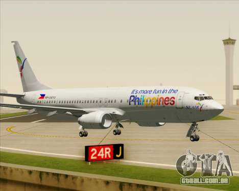 Boeing 737-800 South East Asian Airlines (SEAIR) para GTA San Andreas vista interior