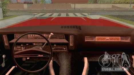 Chevrolet Impala Lowrider para GTA San Andreas traseira esquerda vista