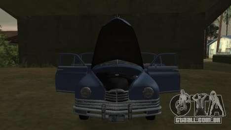 Packard Touring  Sedan para GTA San Andreas traseira esquerda vista