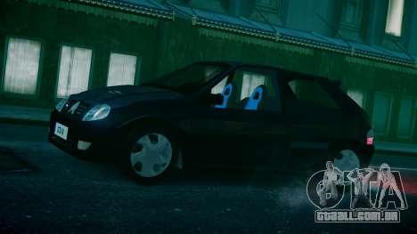 Citroen Saxo para GTA 4 traseira esquerda vista