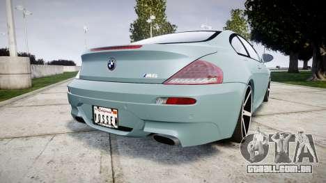 BMW M6 Vossen VVS CV3 para GTA 4 traseira esquerda vista