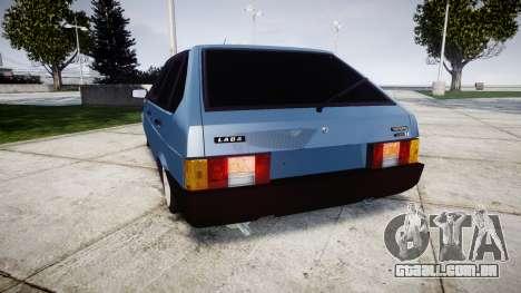 UTILIZANDO-Lada 2109 1500i para GTA 4 traseira esquerda vista