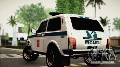 VAZ 2121 Polícia para GTA San Andreas esquerda vista
