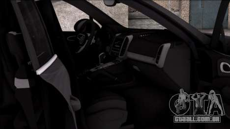 Porsche Cayenne Turbo 2015 para GTA San Andreas vista traseira