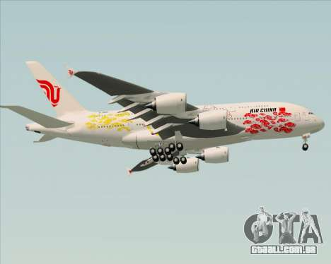 Airbus A380-800 Air China para GTA San Andreas vista traseira